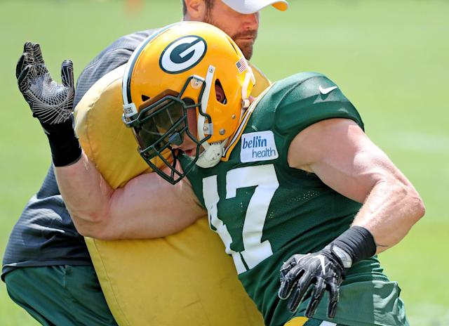 <p>Green Bay Packers linebacker Jake Ryan suffered a serious knee injury during Monday's training camp practice.</p>