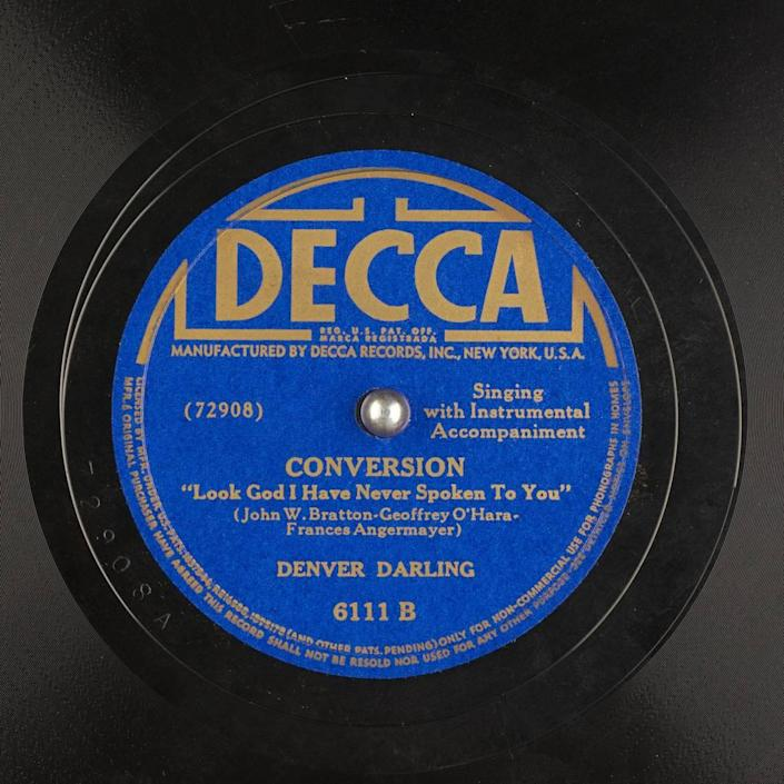 Denver Darling Records from the Digital Audio Collection of the Internet Archive, 1945.  & # X00200b;