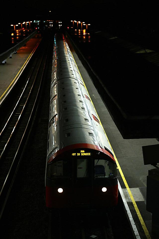 Trains were at a standstill after power failed on 9 August. Photo: Jim Watson/AFP via Getty Images