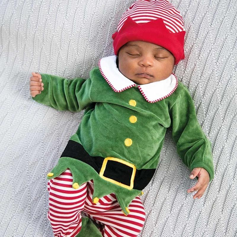 Baby Elf Sleepsuit with Hat Set (Photo: JoJo Maman Bebe)