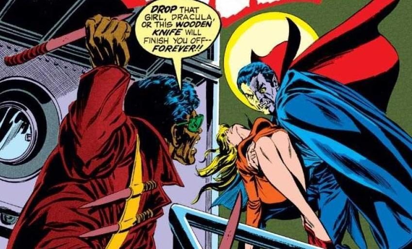 Blade's introduction in the pages of 1970s comic book 'Tomb of Dracula' (credit: Marvel Comics)