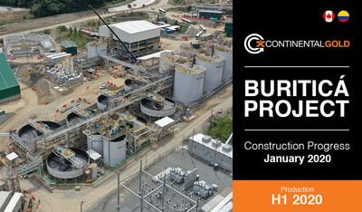 Buritica Construction Update (CNW Group/Continental Gold Inc.)