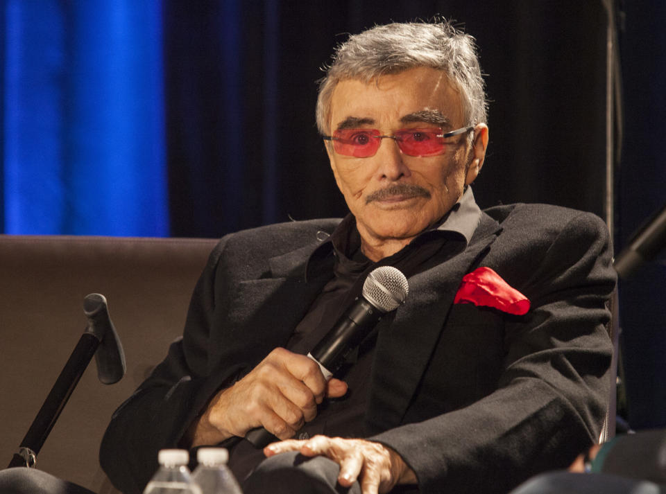 Burt Reynolds at the Wizard World Chicago Comic-Con in August 2015. (Photo: Barry Brecheisen/Invision/AP)