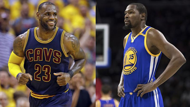 The Cavs and Warriors had to move a lot of parts to sign LeBron James and Kevin Durant, respectively. (AP)