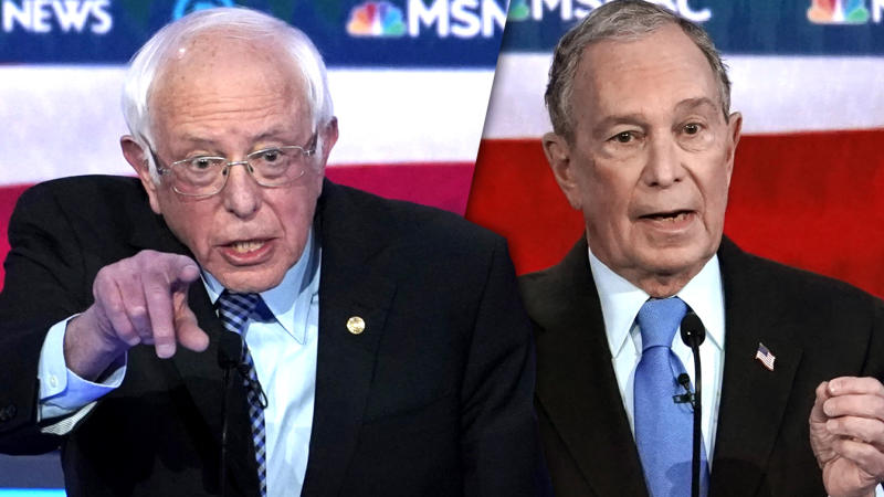 Sen. Bernie Sanders and former Mayor Mike Bloomberg. (Mike Blake/AP (2).