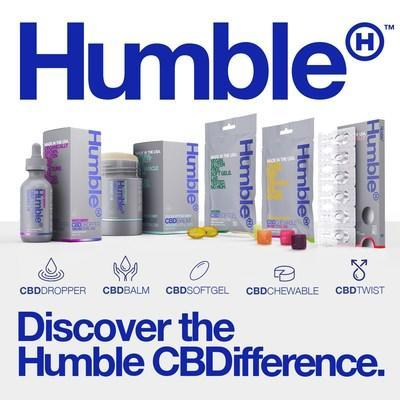 Humble CBD is available in five product formats: a balm, a chewable, a dropper, a softgel and a twist.