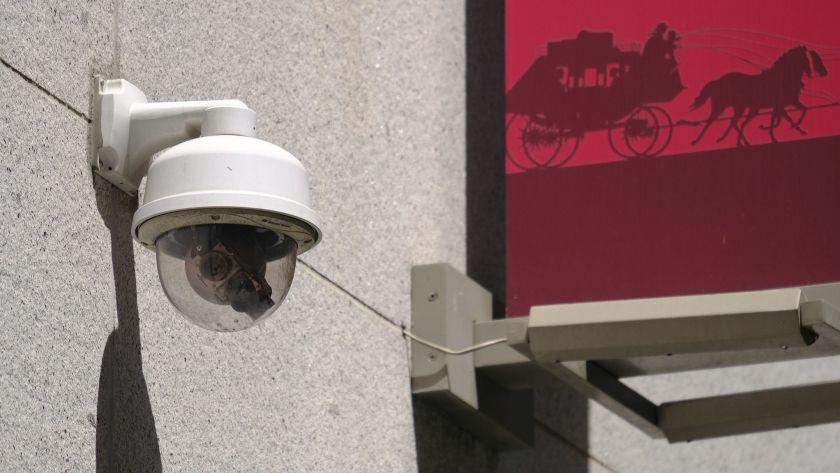"A security camera. <span class=""copyright"">(Eric Risberg / Associated Press)</span>"