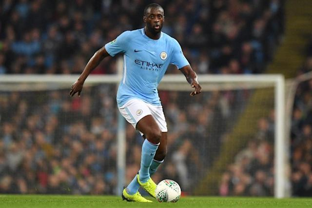 Manchester City midfielder Yaya Toure has won over 100 caps and was part of the Ivory Coast side that won the Africa Cup of Nations, but last played for his country in 2016 (AFP Photo/Anthony DEVLIN)