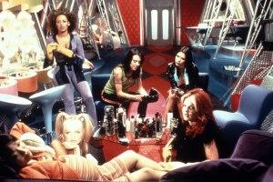 Interior of the bus from Spice World