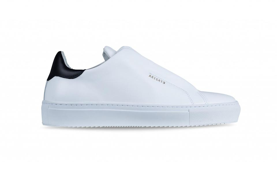 """<p>In the mood for a brand new pair of summer trainers? Hidden Swedish label Axel Arigato will be right up your street with their latest release of stark white sneakers. Featuring a stylish zip, the leather trainers will add an edge to any outfit.<br><a rel=""""nofollow noopener"""" href=""""https://axelarigato.com/uk/whats-new/women/clean-90-zip-6578"""" target=""""_blank"""" data-ylk=""""slk:Axel Arigato, £160"""" class=""""link rapid-noclick-resp""""><i>Axel Arigato, £160</i></a> </p>"""