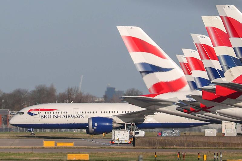 British Airways planes at Heathrow Airport: PA