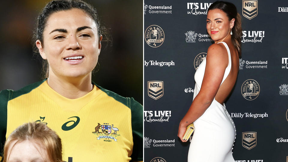 Millie Boyle, pictured here on the red carpet at the Dally M awards.