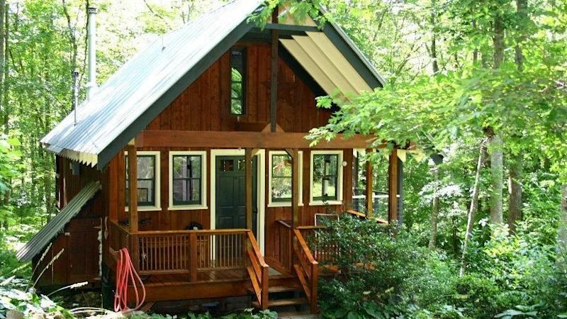 This Tiny Cabin In The Redwoods Is The Perfect Getaway For: Built By A Bold Woman, This Wee House In North Carolina Is