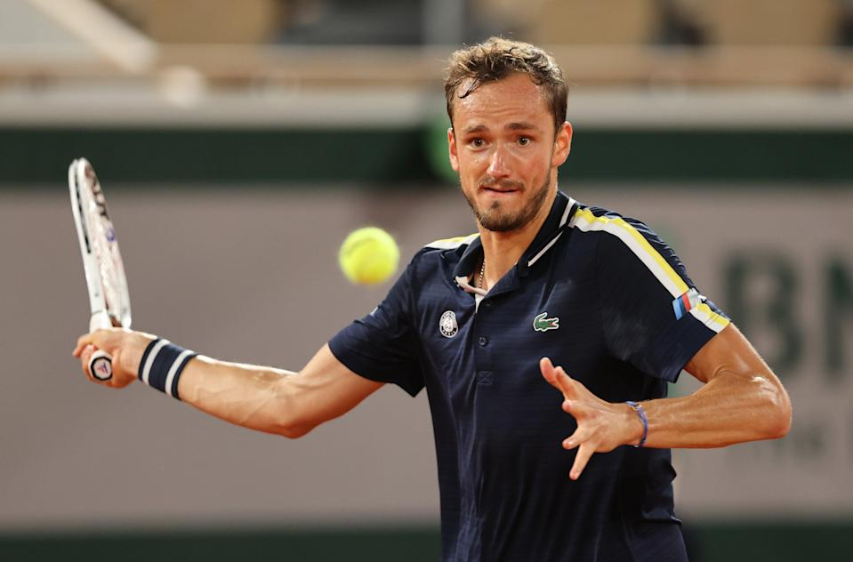 <p>Daniil Medvedev lost to arch-rival Stefanos Tsitsipas in the French Open quarter-finals </p> (Getty Images)