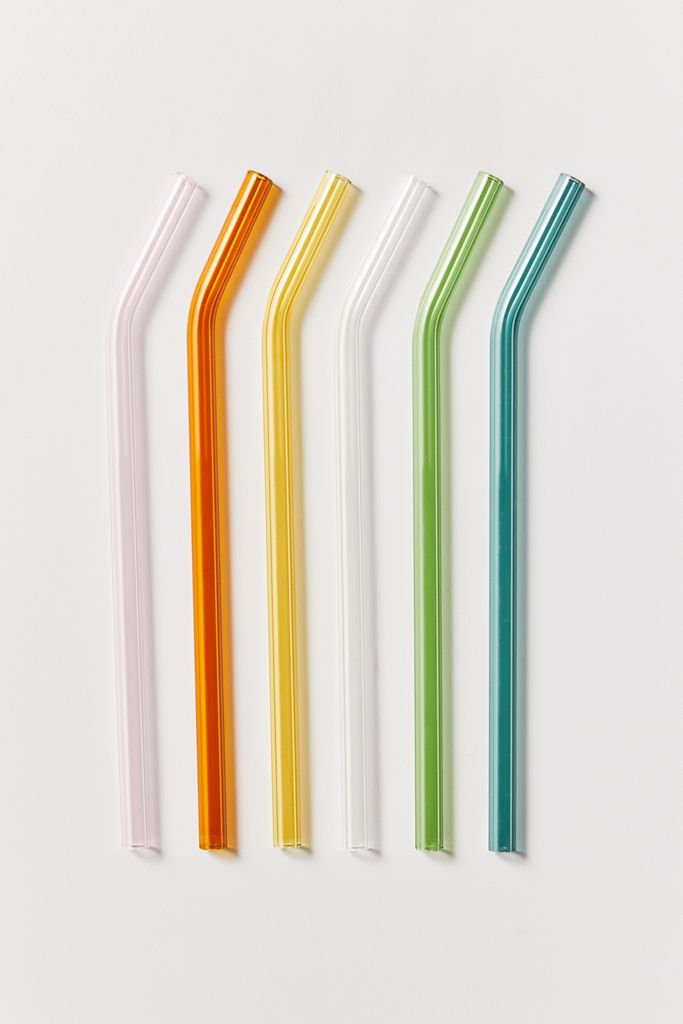 "Say it again with me: No. More. Plastic. Straws. <br> <br> <strong>Hay</strong> Sip Swirl Reusable Glass Straw Set, $, available at <a href=""https://go.skimresources.com/?id=30283X879131&url=https%3A%2F%2Fwww.urbanoutfitters.com%2Fshop%2Fhay-sip-swirl-reusable-glass-straw-set%3Fcategory%3Deco-friendly-kitchen%26color%3D000%26type%3DREGULAR%26size%3DONE%2520SIZE%26quantity%3D1"" rel=""nofollow noopener"" target=""_blank"" data-ylk=""slk:Urban Outfitters"" class=""link rapid-noclick-resp"">Urban Outfitters</a>"