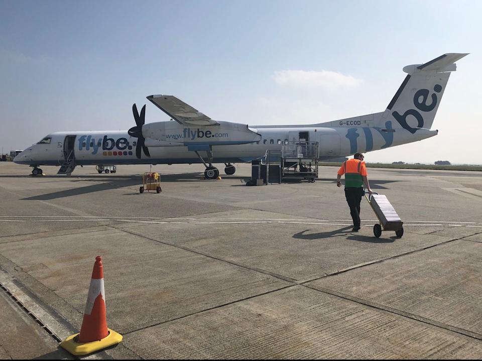 Distant dream: a Flybe aircraft at Newquay airport before the airline collapsed (Simon Calder)