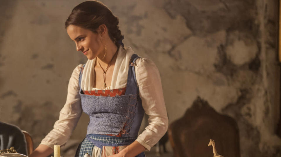 Emma Watson playing Belle in Disney's Beauty & The Beast (Photo: Getty Images)