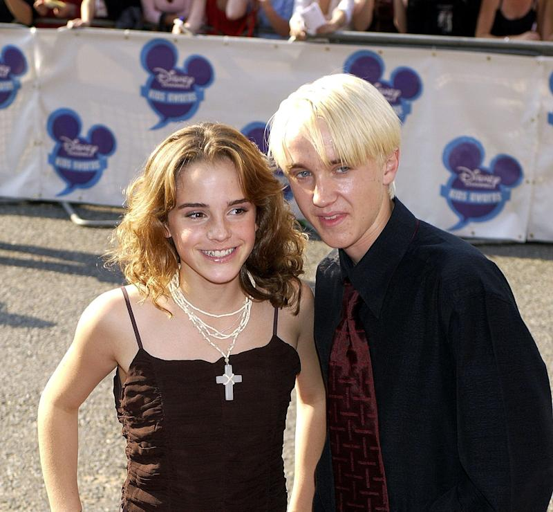Tom Felton Shared a Video of Himself and Emma Watson Playing a Hand-Slap Game on the   Harry Potter Set