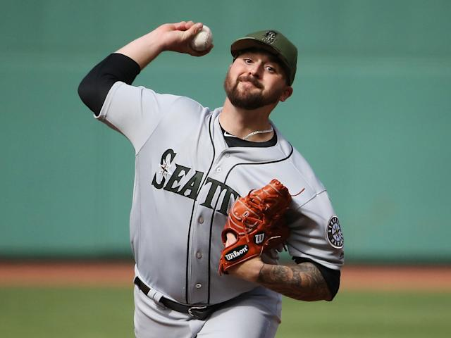 Rob Whalen Pitching Seattle Mariners MLB