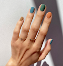 "The easiest way to do fall nail art? Wear every autumnal shade you can get your paws on at once. Make like nail artist Betina Goldstein and try these shades from the new <a href=""https://shop-links.co/1717075654718756759"" rel=""nofollow noopener"" target=""_blank"" data-ylk=""slk:Essie Expressie fall collection"" class=""link rapid-noclick-resp"">Essie Expressie fall collection</a>."