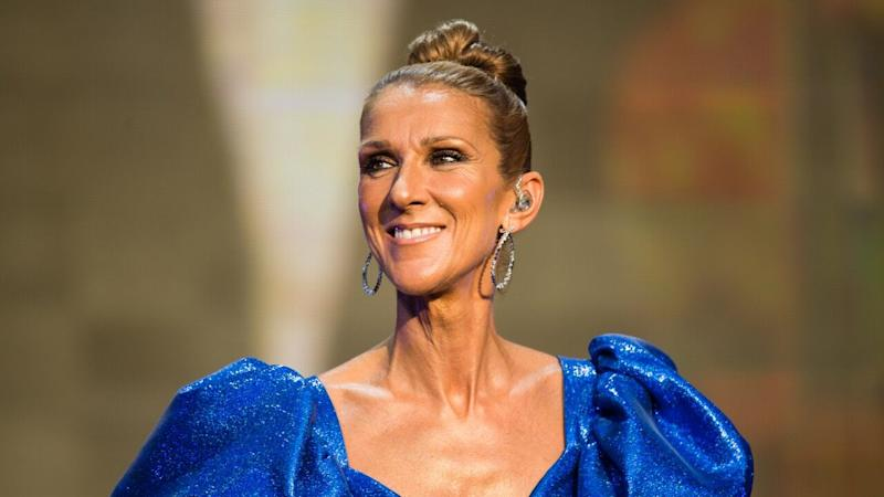 Celine Dion goes edgy with wet look