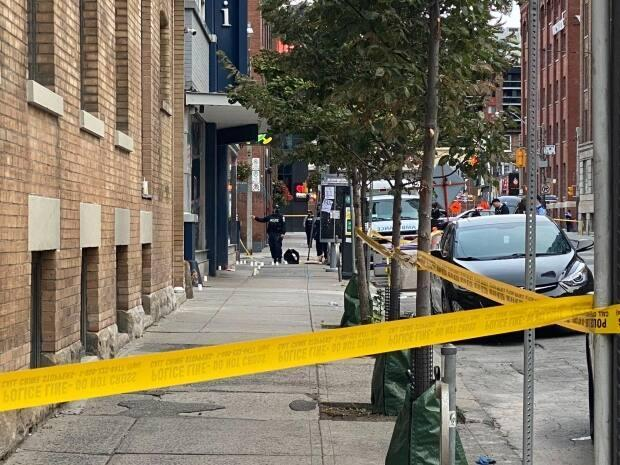 Toronto police are investigating a homicide that occurred early Saturday morning. (Darek Zdzienicki/CBC News - image credit)