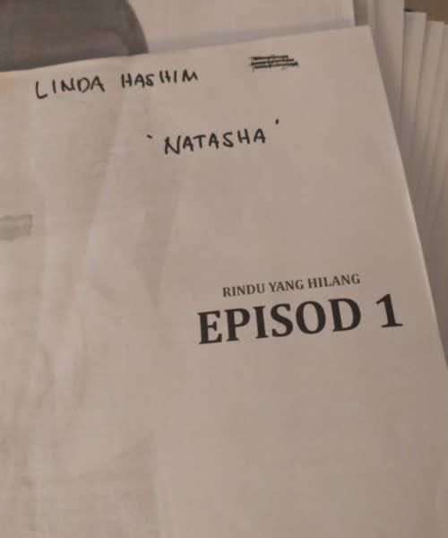 The actress shared the good news with photo of her script