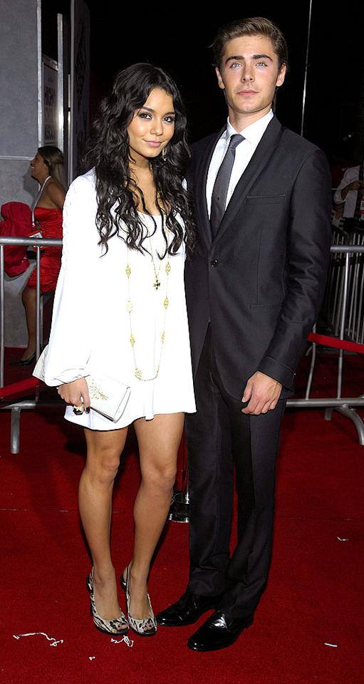 "Rarely do couples survive the hustle and bustle of Hollywood, but we think Vanessa and Zac might be together forever. Toby Canham/<a href=""http://www.gettyimages.com/"" target=""new"">GettyImages.com</a> - October 16, 2008"