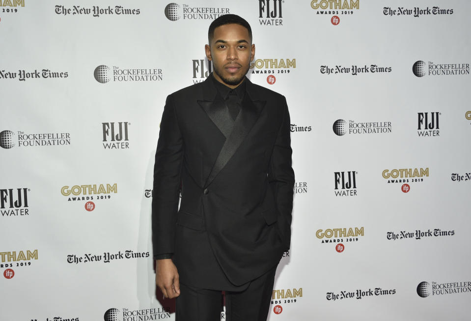 Kelvin Harrison Jr. attends the Independent Filmmaker Project's 29th annual IFP Gotham Awards at Cipriani Wall Street on Monday Dec. 2, 2019, in New York. (Photo by Evan Agostini/Invision/AP)