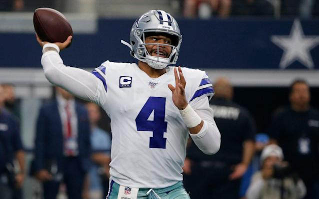 Dak Prescott was outstanding as the Cowboys comfortably beat the Giants - FR171389 AP