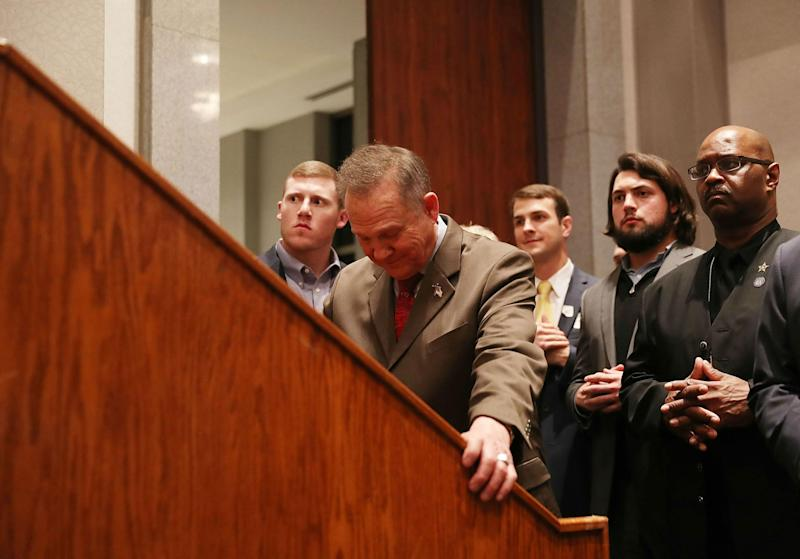 Mr Moore asked people to pray to God and come back in the morning: Getty