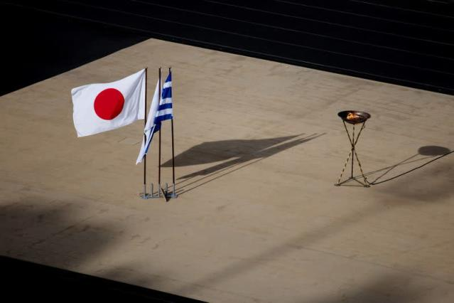 Tokyo 2020 Olympic Flame at the Panathenaic stadium