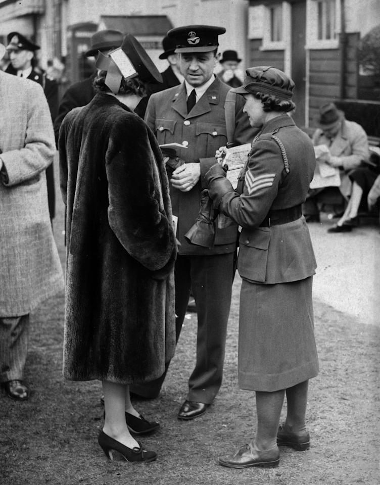 25th March 1940:  Former England cricket captain and RAF officer, Walter Hammond, at the start of the flat racing season at Hurst Park.  (Photo by Fox Photos/Getty Images)