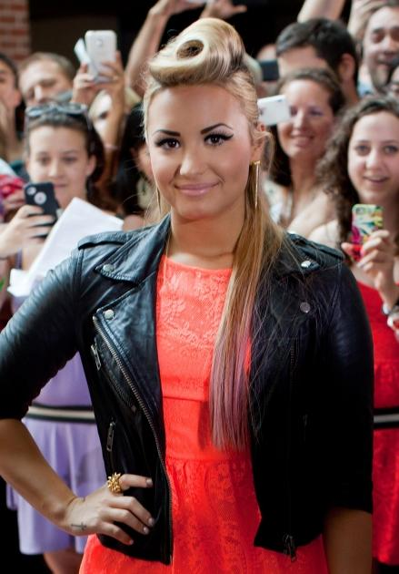 Demi Lovato steps out at the 'The X Factor' Season 2 auditions at the Greensboro Coliseum in Greensboro, North Carolina on July 8, 2012  -- Getty Images
