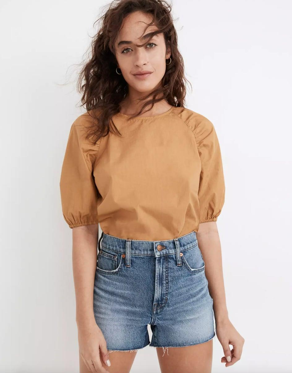 """<p>""""For me, spring is synonymous with jorts. I'm hoping this <span> Perfect Jean Shorts</span> ($70) from Madewell lives up to the name."""" - Claire Stern, contributing editor, Fashion</p>"""