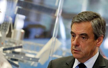 Francois Fillon, former French Prime Minister, member of the Republicans political party and 2017 French presidential election candidate of the French centre-right, visits the French National Space Agency (CNES) in Toulouse
