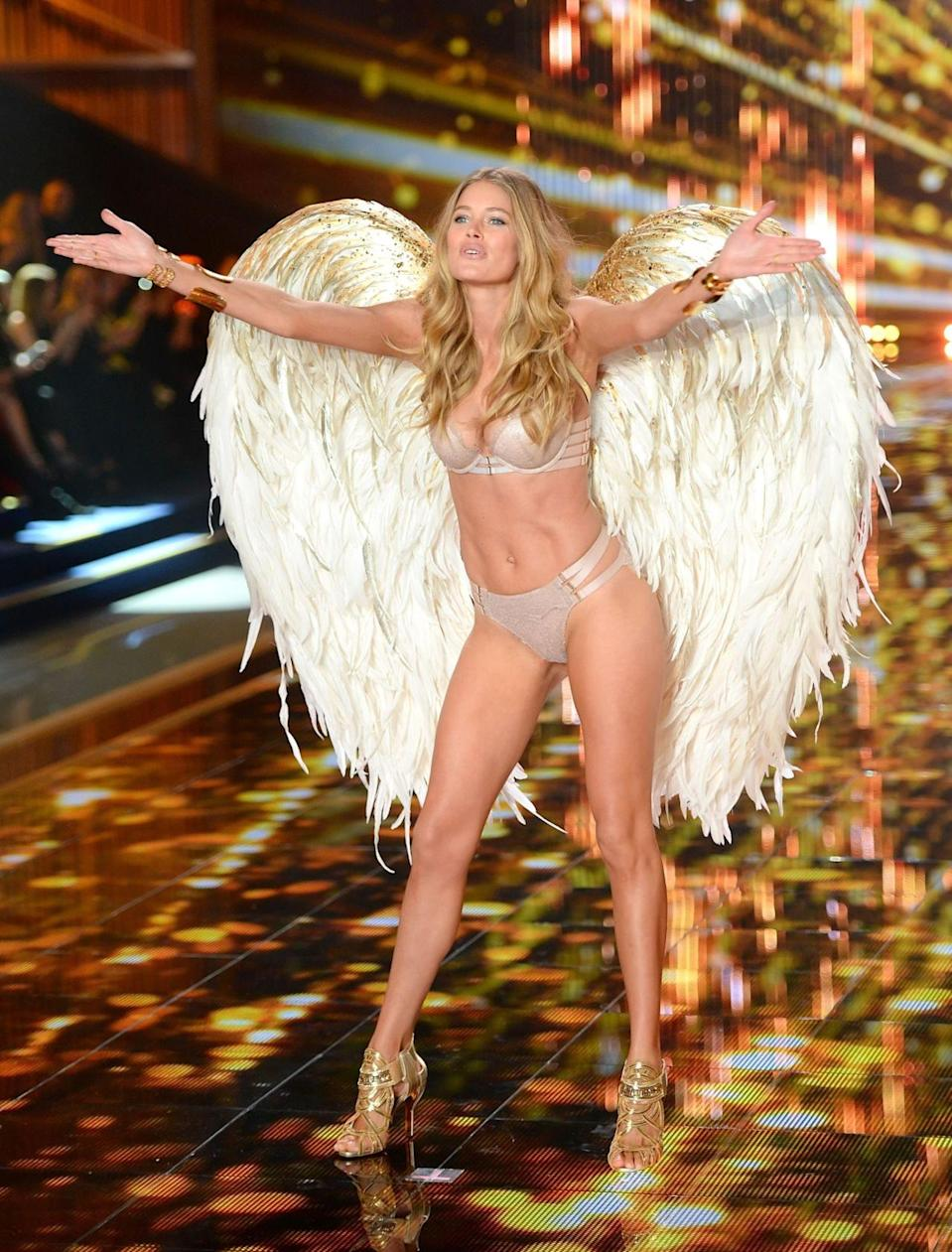 <p>As the face of Tiffany & Co, Doutzen is one high-flying woman. <i>[Photo: PA]</i></p>
