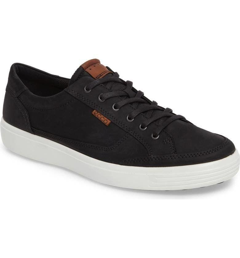 "33% off from $150. Get it <a href=""https://shop.nordstrom.com/s/ecco-soft-7-sneaker-men/4537315?origin=category-personalizedsort&fashioncolor=BLACK%20LEATHER"" target=""_blank"">here</a>."