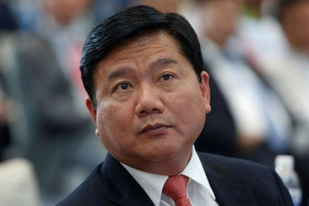 Vietnam's Transport Minister Dinh La Thang is seen at a ceremony in Hanoi
