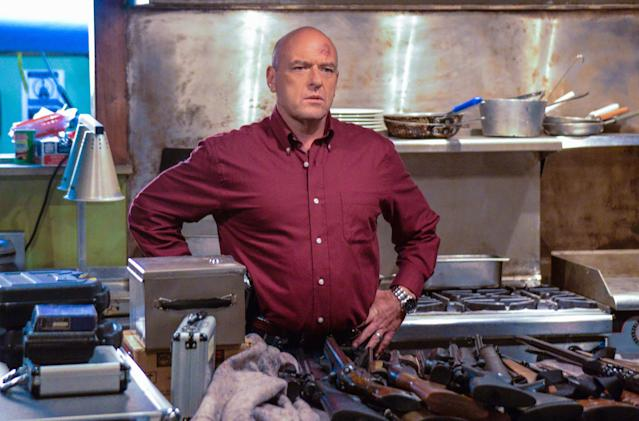 """The Fourth Hand"" - Big Jim (Dean Norris) and Barbie discover their lives are more intertwined than they knew when a mysterious woman, Maxine (Natalie Zea), shows up unexpectedly in Chester's Mill, on ""Under the Dome."""