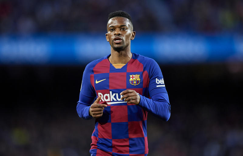 BARCELONA, SPAIN - MARCH 07: Nelson Semedo of FC Barcelona looks on during the Liga match between FC Barcelona and Real Sociedad at Camp Nou on March 07, 2020 in Barcelona, Spain. (Photo by Silvestre Szpylma/Quality Sport Images/Getty Images)