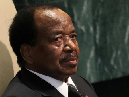 FILE PHOTO: President Paul Biya of Cameroon waits to address the 71st United Nations General Assembly in Manhattan, New York, U.S. September 22, 2016. REUTERS/Carlo Allegri -/File Photo