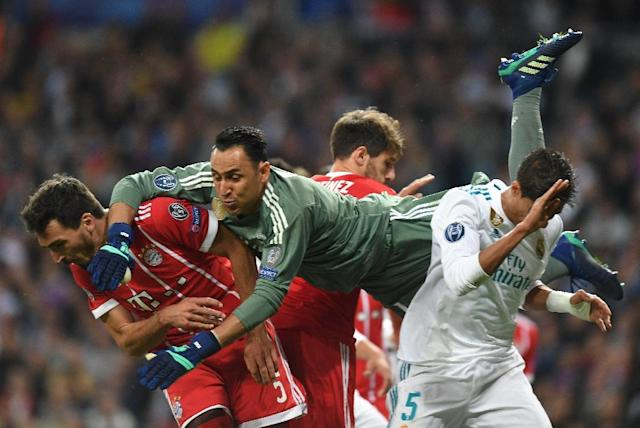 Keylor Navas quietened his critics with an impressive showing against Bayern Munich in the second leg of the Champions League semi-final (AFP Photo/Christof STACHE)