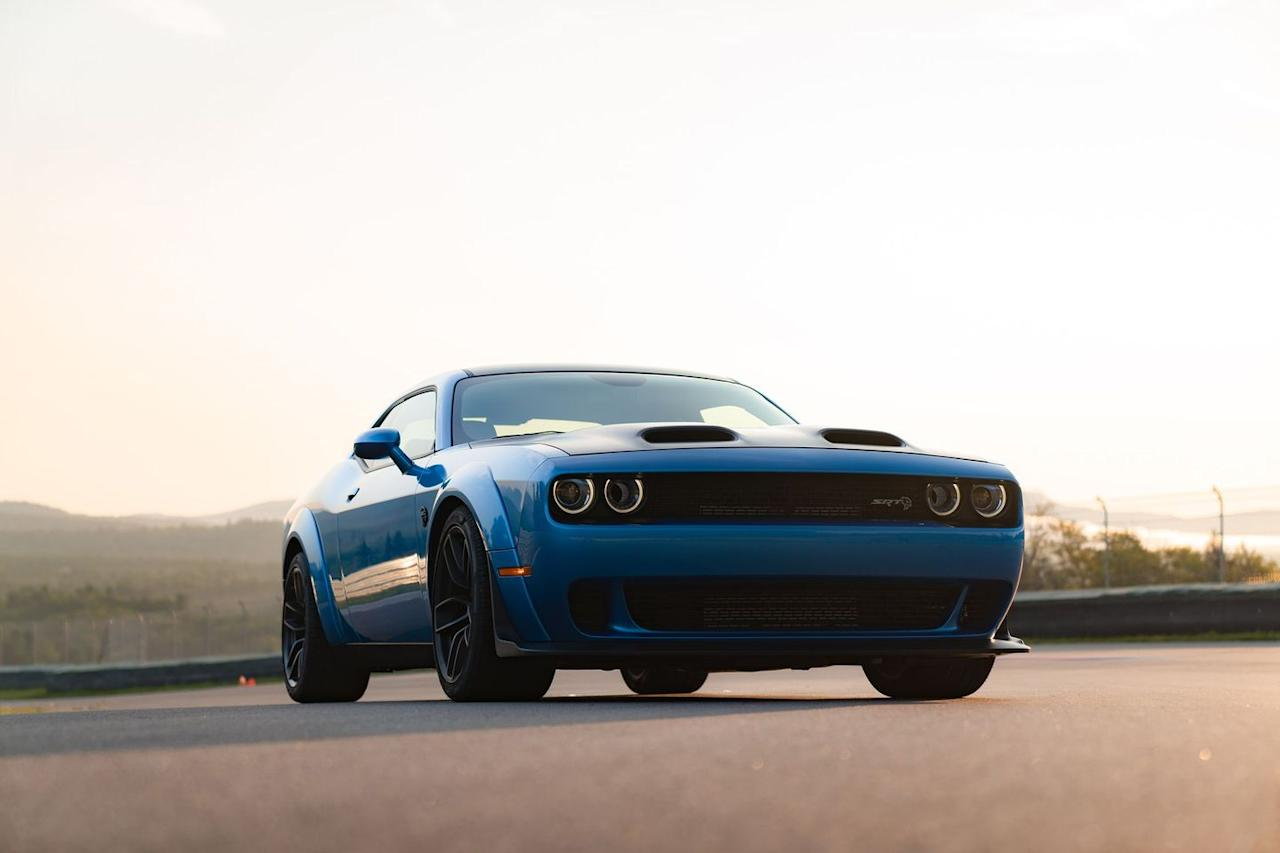 """<p>Dodge gave the Challenger Hellcat a refresh for 2019, as well as a new performance trim: <a href=""""https://www.roadandtrack.com/new-cars/first-drives/a22747324/2019-dodge-challenger-srt-hellcat-redeye-first-drive/"""" target=""""_blank"""">the Redeye</a>. Thanks to SRT Demon internals and a new dual-nostril hood, it makes an incredible 797 horsepower from that supercharged V-8. <a href=""""https://www.ebay.com/itm/2019-Dodge-Challenger-SRT-Hellcat-Redeye/303208995697?hash=item4698aa1b71:g:BhsAAOSwtPddGsQD"""" target=""""_blank"""">Here's one</a> you can own right now for sale on eBay. </p>"""