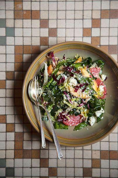 PHOTO: Collard greens and fresh cheese salad with coconut vinaigrette.  (Angie Mosier)