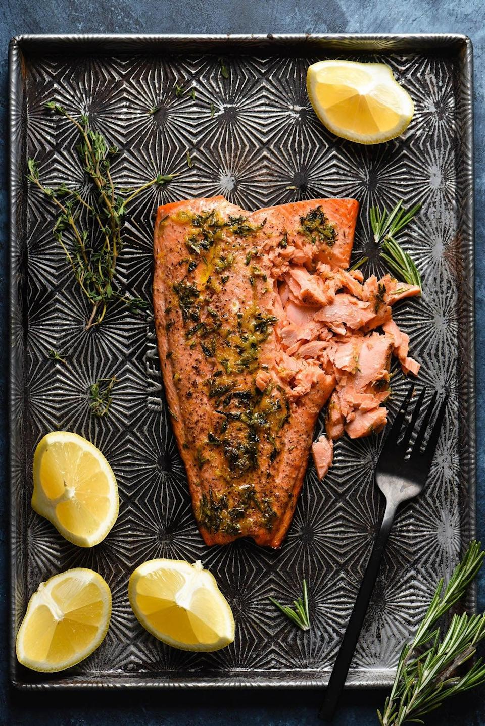 "<p>The folks of New Jersey are craving seaside salmon, and this recipe delivers omega-3s and seriously rich flavor. With a lemon herb zest, this salmon is worthy of making your mouth water.</p> <p><strong>Get the recipe</strong>: <a href=""https://foxeslovelemons.com/sockeye-salmon-recipe/"" class=""link rapid-noclick-resp"" rel=""nofollow noopener"" target=""_blank"" data-ylk=""slk:sockeye salmon"">sockeye salmon</a></p>"