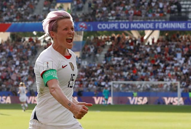 Take the penalty, or let Alex Morgan do it. Either way, Megan Rapinoe was good. And because of that, so was the USWNT. (Reuters)
