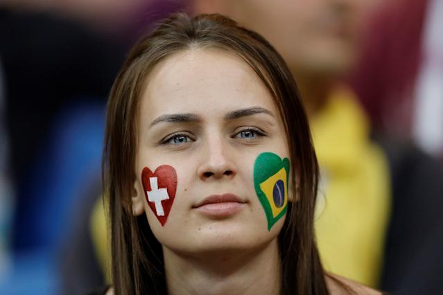 <p>A fan is seen ahead of 2018 FIFA World Cup Russia Group E match between Brazil and Switzerland at Rostov Arena in Rostov-on-Don, Russia on June 17, 2018.<br>(Photo by Gokhan Balci/Anadolu Agency/Getty Images) </p>