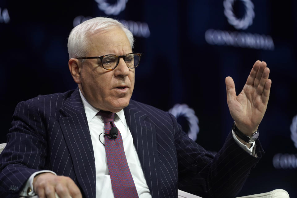 David Rubenstein, Co-Founder & Co-Executive Chairman, The Carlyle Group, speaks onstage during the 2019 Concordia Annual Summit on September 24, 2019 in New York City. (Photo by Riccardo Savi/Getty Images for Concordia Summit)