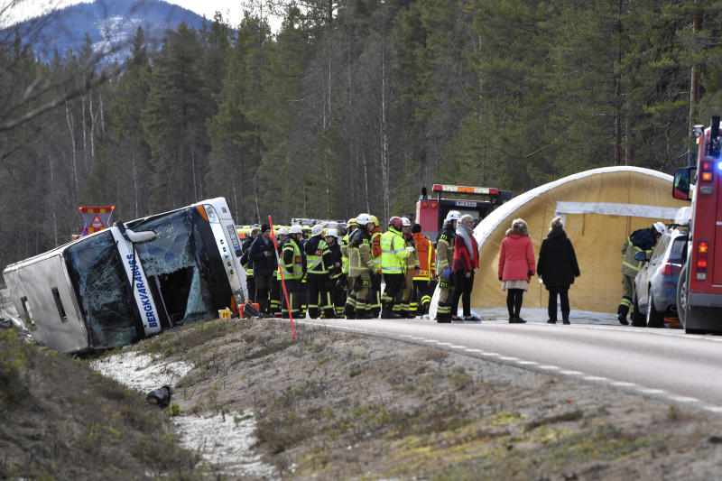 Swedish bus crash leaves 3 dead, 19 injured, mostly students